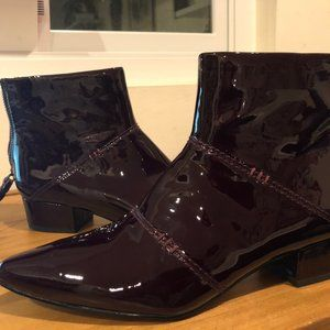 Pointy Patent Leather Booties!